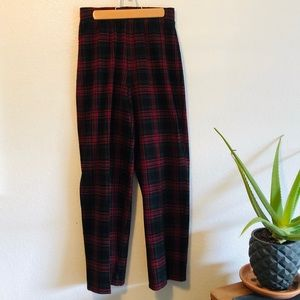 Vintage 90s Plaid Pants
